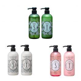 AROMAKIFI Moist Smooth / Damage Care / Volume Care Shampoo+Treatment Set 500ml
