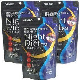 ORIHIRO Night Diet tea 2g x 20 Tea bags x 3PCS