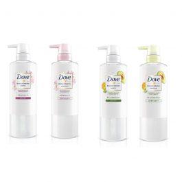 Dove Botanical Selection Shampoo and Conditioner Shiny Straight / Damage Protection