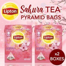 2019 Lipton Sakura Tea Pyramid Tea Bags 12PCS x 2BOX