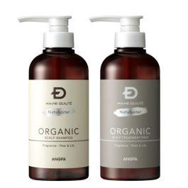 ANGFA Scalp-D Beaute Natuluster Organic Scalp Shampoo + Treatment Pack 350ml SET
