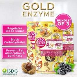 NEW ISDG 232 GOLD ENZYME 120 Tabs Bundle of 3 (2 / Day)